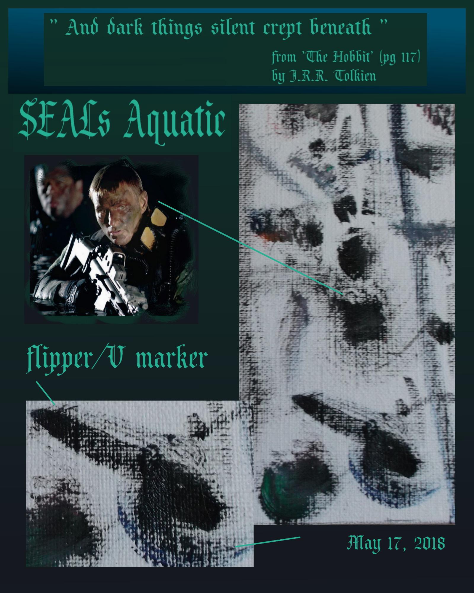 SEALs aquatic flipper V page poem