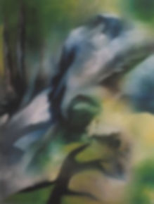 Magpie in the Acid Rain 16x20 oil canvas