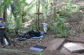 Mavic Pro drone flight for photogrammetry reconstruction of excavations