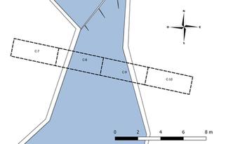 Mapa de excavaciónes del Canal 2 (Op.10C)