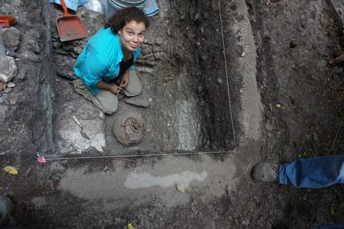 Excavaciones de las fases del Preclásico Terminal del edificio