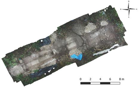 Fotografía de drone de las excavaciones de Calzada Norte (Op.15)