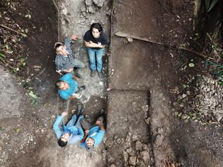 Fotografía del equipo de excavación del Canal # 3