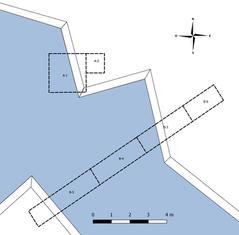 Ubicación de las excavaciones del Canal 1