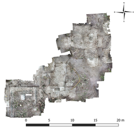 Drone photography of excavations of Group 165 (Op.18)