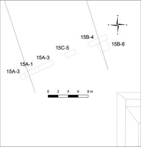 Ubicación de las unidades de excavación, Calzada Norte