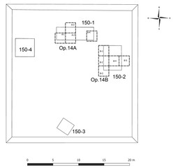 Plan map of excavations of Group 150