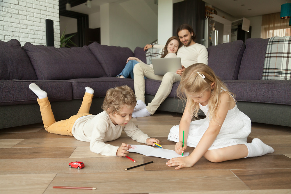 Radiant Floor Heat:  Your family will be happy and comfortable with warm floors from a radiant floor heating system.