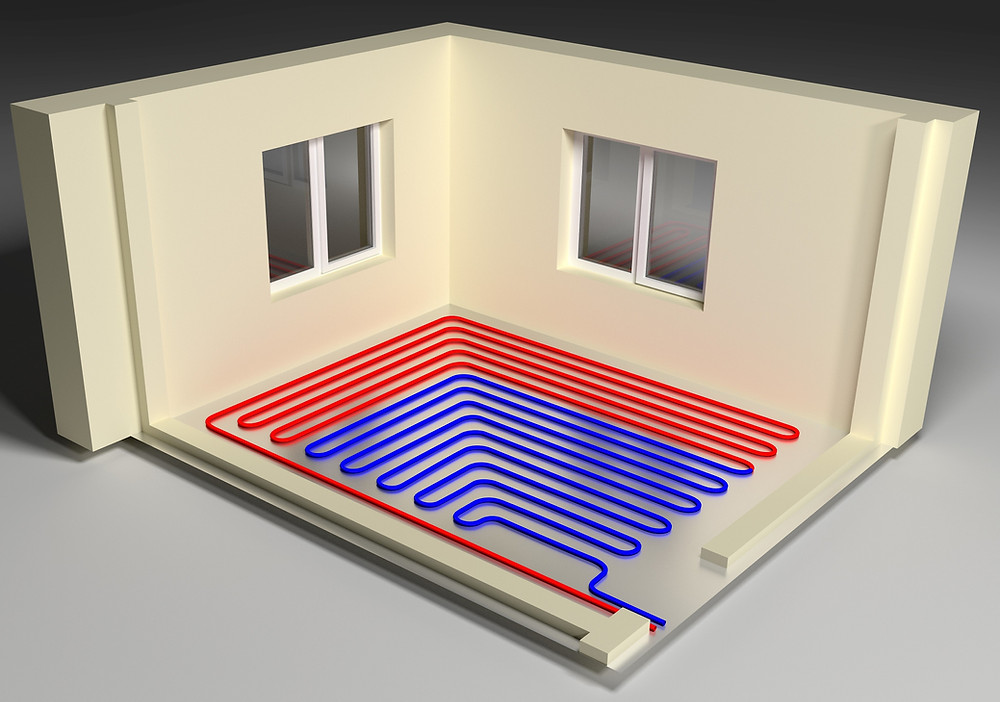 Radiant floor heat is energy efficient and cost effective.  radiant floor heat systems create an even and controlled warmth in your home. warm floors, heated flooring, radiant heat, diy floor heat.