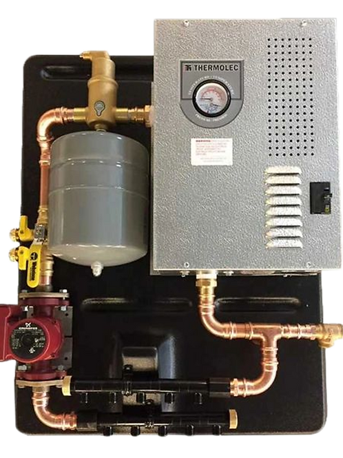 rms-11, assembled panel w/thermolec 11TMB boiler, radiant floor heat
