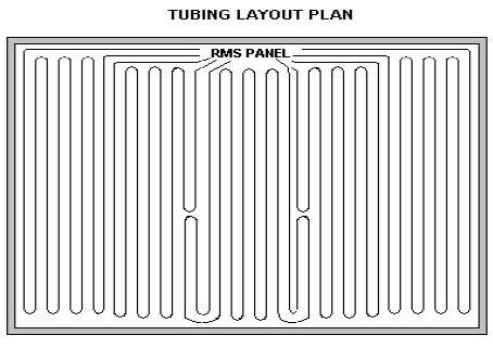 Pex Tubing Layout - Radiant Floor Heat
