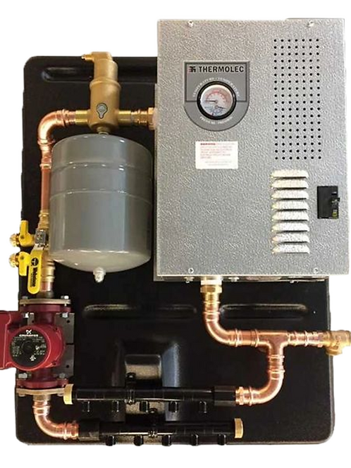rms-3, assembled panel w/thermolec 3TMB boiler, radiant floor heat
