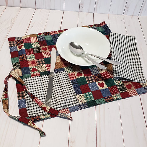 Placemat, Lunch mat, With pocket for silverware and napkin,