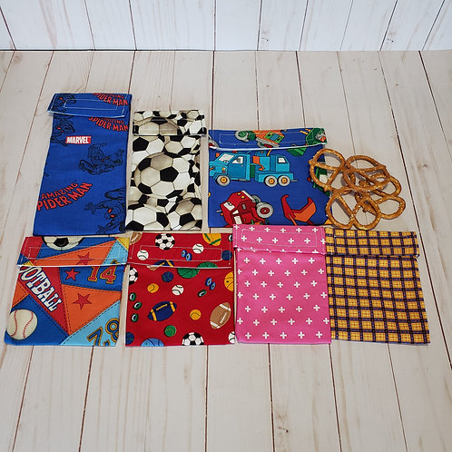 Small Snack Bags, Reusable Snack Bags, Sandwich Bags