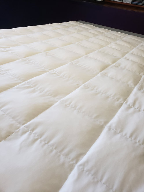 WHITE Poly Cotton, Your Choice Second Colour Poly Cotton, All Sizes and Weight