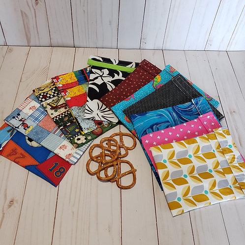 Medium Snack Bags, Reusable Snack Bags, Sandwich Bags