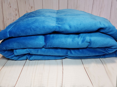COBALT BLUE Chenille, Your Choice Second Color Poly Cotton, All Sizes and Weight