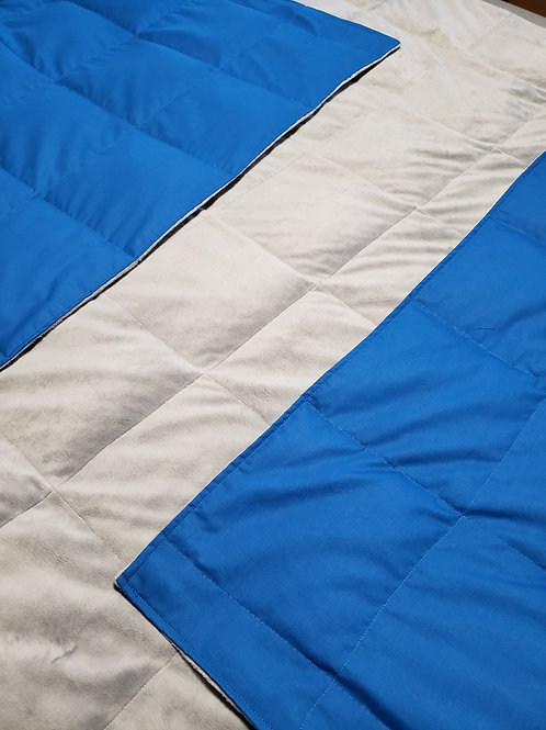 COBALT BLUE PolyCotton, Your Choice Second Color PolyCotton,All Sizes and Weight