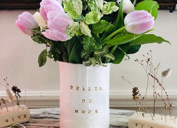 Vase Dealer of Hope Blanc