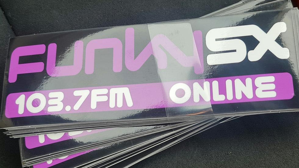 Funky SX 103.7FM Glossy Sticker