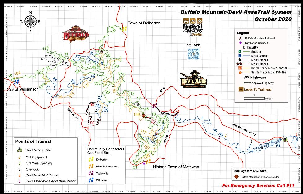 Rockhouse, Devil Anse, Buffalo Mountain
