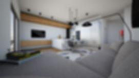 Interierový designovy návrh novostavby bytu 3+kk, MINIMAL Concept