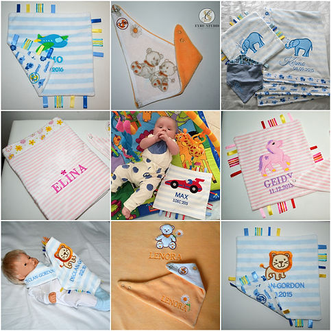 Animal embroidery baby presents