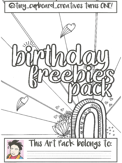 Tiny Cupboard Creatives Bday Giveaway (use promo code ( FREEBIES ))