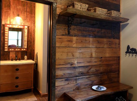 Entry Mudroom and bathroom