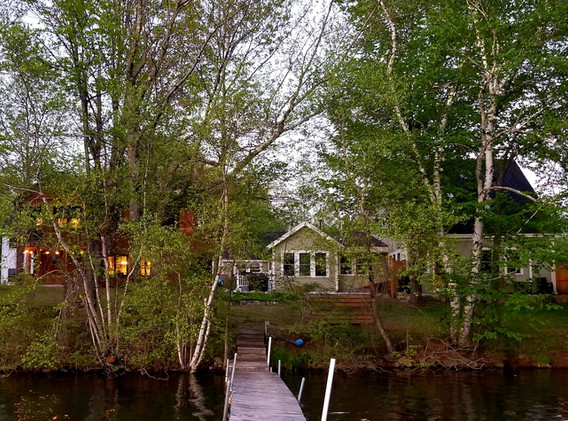 Watch the boats pass by from your porch or deck, but lots of privacy too!
