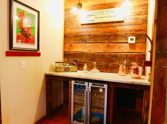 Custom Bar with wine frig