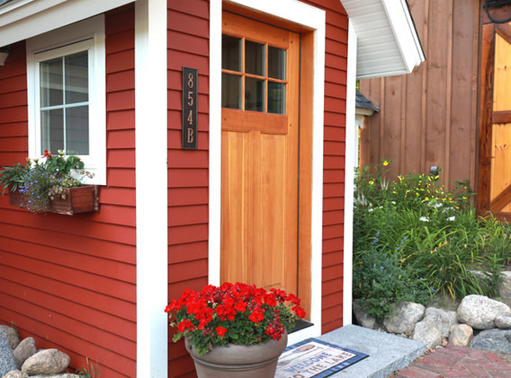 Private Front Entrance with Fir front Door
