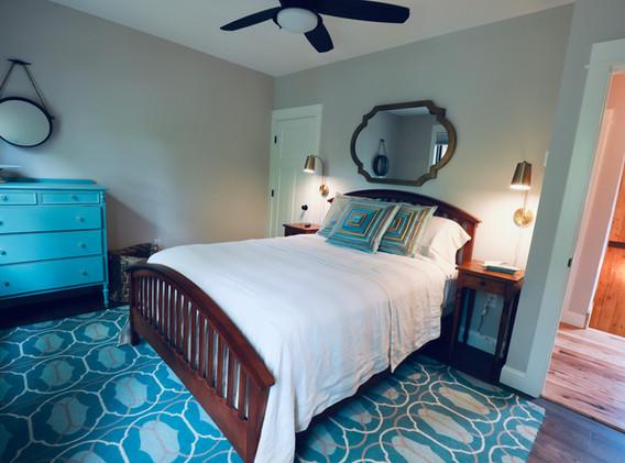 Queen Bedroom overlooking Squam Channel, walk in closet, Roku TV