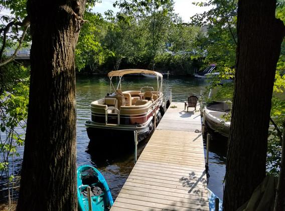Dock slip for Barn residents