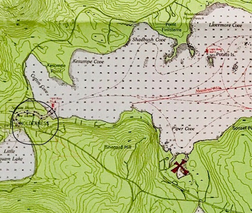 Map of General Location between Big & Little Squam