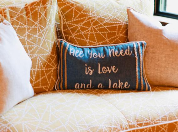 Soft pillows & seating to Enjoy!