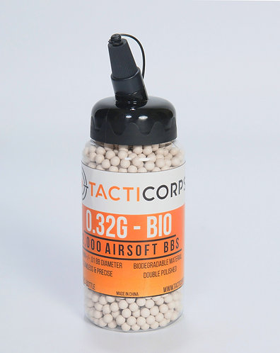 2,000 COUNT | 0.32g Biodegradable Airsoft BBs