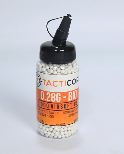 2,000 Count | 0.28g Biodegradable Airsoft BBs