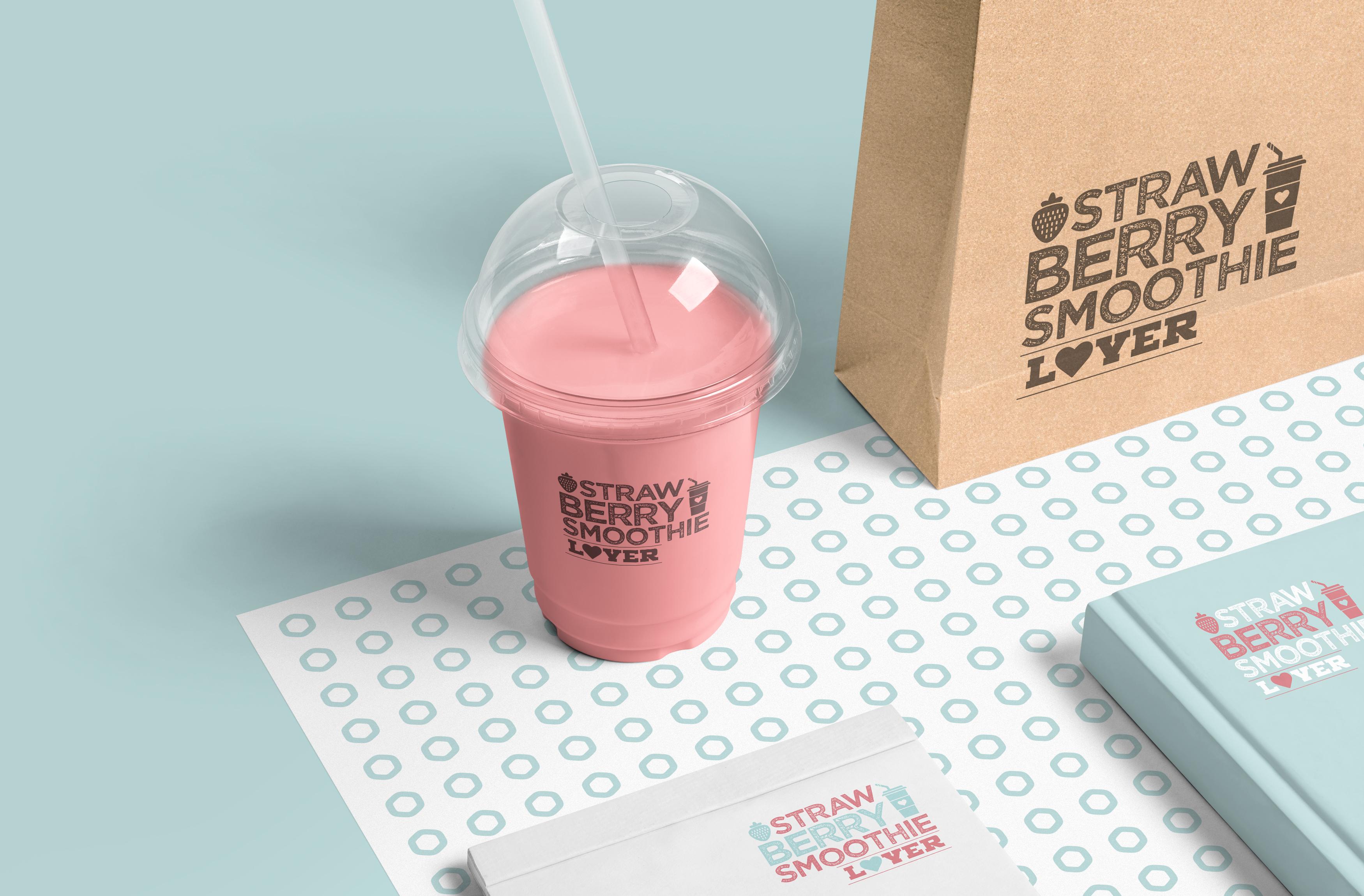 Plastic Cup + Kraft Paper Bag
