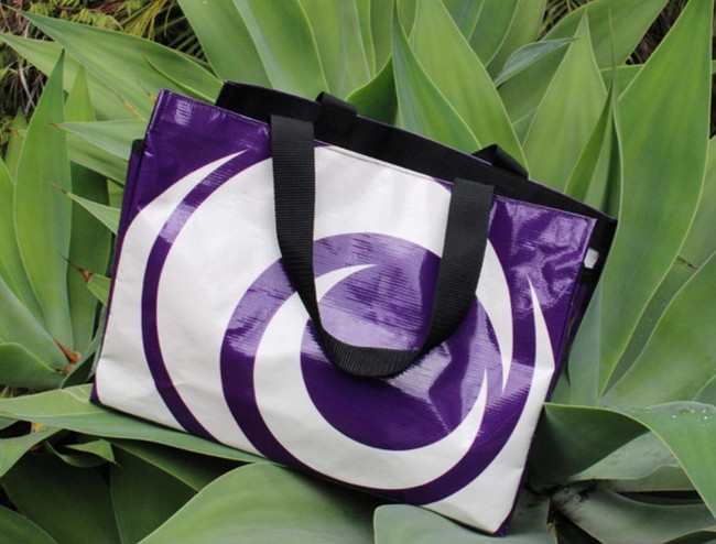 Purple swirl tote