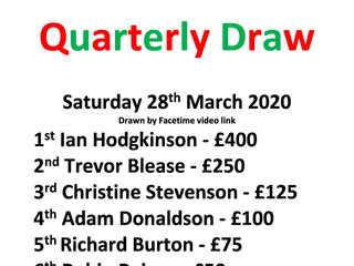 '100 Club' 1st Quarterly Draw for 2020