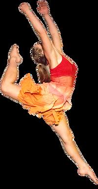 Dancer doing a jump
