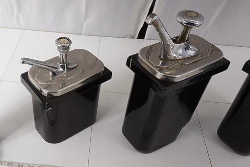3 Soda Fountain Dispenser Set  Ca 1940s