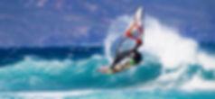 Man windsurfing in Kokkari, Samos, Greece
