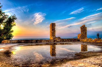Photo from the ruins in the Castle of Logotheti, Samos, Greece