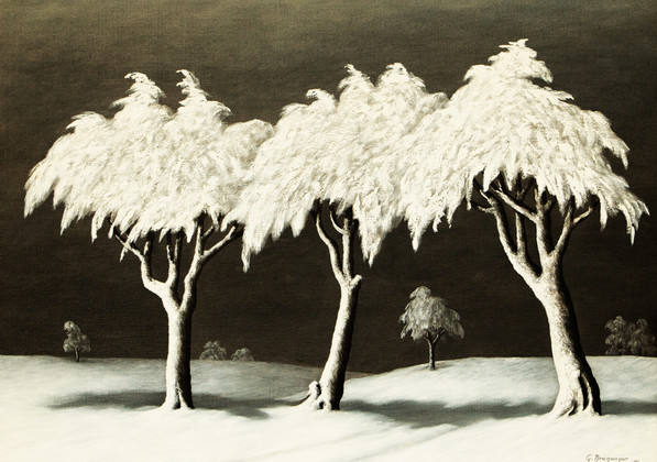 Baumgruppe im Winter