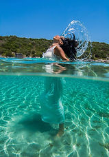 Girl in Water, with her hair back