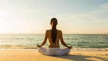 Meditation on a sandy beach