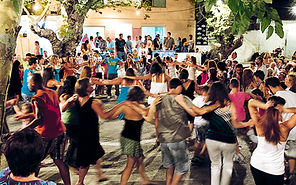Greek people dancing