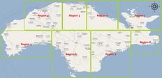 Regional map of Samos, Greece